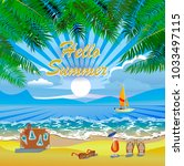 vector summer vacation and... | Shutterstock .eps vector #1033497115