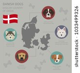 dogs by country of origin.... | Shutterstock .eps vector #1033499326