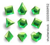 gems set. cartoon green... | Shutterstock .eps vector #1033500952