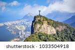Stock photo aerial view of rio de janeiro city skyline in brazil 1033504918