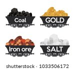pile of charcoal coal mine gold ... | Shutterstock .eps vector #1033506172
