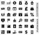 flat vector icon set   bank... | Shutterstock .eps vector #1033508026