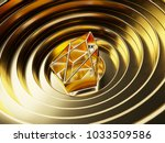 gold eos on the gold circle... | Shutterstock . vector #1033509586