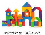 the toy castle from color... | Shutterstock . vector #103351295