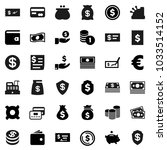 flat vector icon set   dollar... | Shutterstock .eps vector #1033514152