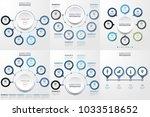 set of business infographics... | Shutterstock .eps vector #1033518652