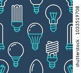 light bulbs seamless pattern... | Shutterstock .eps vector #1033519708