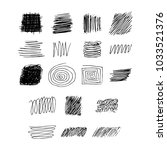set of hand drawn black pen... | Shutterstock .eps vector #1033521376