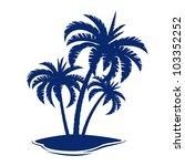 tropical island. illustration... | Shutterstock .eps vector #103352252