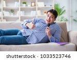 funny man singing songs in... | Shutterstock . vector #1033523746