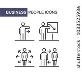 business people icons set...