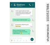 messenger app window template.... | Shutterstock .eps vector #1033527886