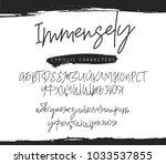 fashionable modern font on... | Shutterstock .eps vector #1033537855