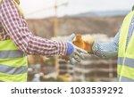 close up builders hands making... | Shutterstock . vector #1033539292