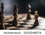 chess on chessboard close up   Shutterstock . vector #1033548076