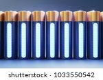 3d render of front view lithium ... | Shutterstock . vector #1033550542