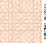 red and beige geometric... | Shutterstock .eps vector #1033555342