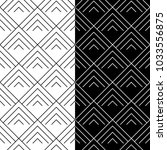 black and white geometric... | Shutterstock .eps vector #1033556875