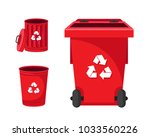 modern red recycle electronic... | Shutterstock .eps vector #1033560226