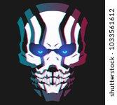 neon skull mask   Shutterstock .eps vector #1033561612