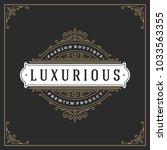 ornament logo design template... | Shutterstock .eps vector #1033563355