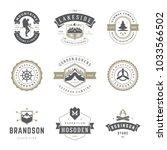 camping logos templates vector... | Shutterstock .eps vector #1033566502