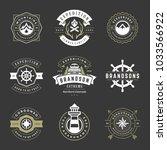 camping logos templates vector... | Shutterstock .eps vector #1033566922