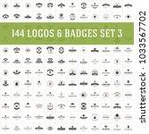 vintage logos design templates... | Shutterstock .eps vector #1033567702