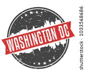 washington dc usa round travel... | Shutterstock .eps vector #1033568686