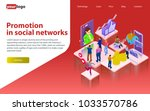 promotion in social networks.... | Shutterstock .eps vector #1033570786