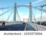 albert bridge london | Shutterstock . vector #1033573006