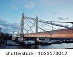 albert bridge london | Shutterstock . vector #1033573012