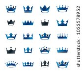 royal crowns ancient emblems... | Shutterstock .eps vector #1033578952