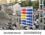 """""""site safety notice"""" sign... 