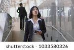 portrait asian young woman is...   Shutterstock . vector #1033580326