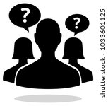 consumer enquiry icon  ... | Shutterstock .eps vector #1033601125