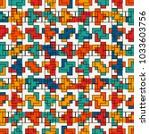 repeated creative puzzle mosaic ... | Shutterstock .eps vector #1033603756