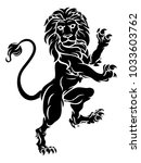 a rampant lion standing on hind ... | Shutterstock .eps vector #1033603762