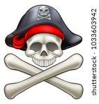 pirate jolly roger skull and...   Shutterstock .eps vector #1033603942