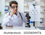 eye doctor in medical concept | Shutterstock . vector #1033604476