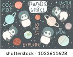 isolted elements with cute... | Shutterstock .eps vector #1033611628