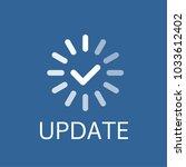 software update process... | Shutterstock .eps vector #1033612402