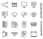 flat vector icon set   share... | Shutterstock .eps vector #1033618528