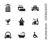 hotel icons set | Shutterstock .eps vector #1033626025