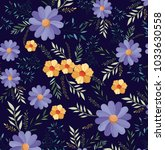 beautiful flowers pattern... | Shutterstock .eps vector #1033630558