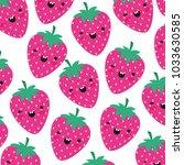 strawberries pattern background ... | Shutterstock .eps vector #1033630585