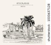 hyderabad  telangana state ...   Shutterstock .eps vector #1033637128