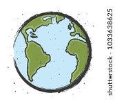 earth illustration cartoon | Shutterstock .eps vector #1033638625