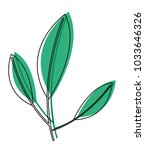 leafs plant ecology icon | Shutterstock .eps vector #1033646326