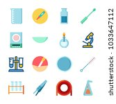 icon laboratory with ladle ... | Shutterstock .eps vector #1033647112